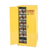 Eagle YPI-6010 Combustible Cabinet, 96 gallon EAGLE w/ 2 door self-closing, Yellow