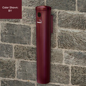 "Deluxe Cigarette Smokers Post, 3.5"" x 24"" Wall Mount, Choose Color"