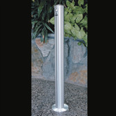 "Deluxe Cigarette Smokers Post, 3.5"" x 42"" In-Ground, Satin Aluminum"