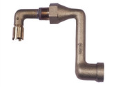 """Justrite Cast iron Elbow 0.75"""" fitting for mounting 08101 or 08005"""