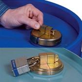 Justrite Drum Security Locks for Plastic drums, case/2, padlocks