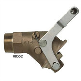 Justrite 08552 Brass Drum Gate Valve, Self-closing
