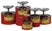 Justrite 10108 1 Quart Steel Plunger Can