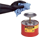 Justrite 10208 2 Quart Steel Plunger Can
