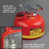 Justrite 11406 Replacement Flame Arrester for Poly Safety Cans