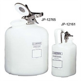 Justrite Acid Safety Can, 1 gal self-closing Oval HDPE, w/ steel hardware