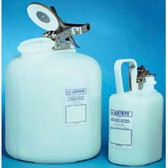Justrite Acid Safety Can, 2.5 gal self-closing HDPE, w/ steel hardware