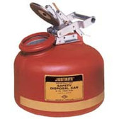 Justrite 2 gal Polyethylene Liquid Disposal Can, Steel Hardware