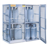 Justrite 23011 16 cylinder, Vertical Gas Cylinder Storage Locker (CSA)