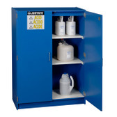 Justrite Wood Laminate Acid, Corrosive Cabinet 122.5 Liter blue