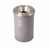 Justrite Steel Cease-Fire Waste Drum, Aluminum Head, 12 gal