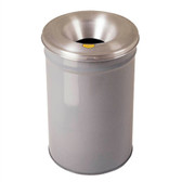 Justrite Steel Cease-Fire Waste Drum, Aluminum Head, 30 gal