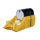 Justrite Outdoor Spill Containment Drum Caddy, Strap - Yellow