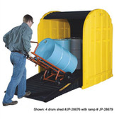 Justrite 28676 4 Drum Containment Poly Storage Sheds by