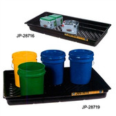 Justrite 28716 Secondary Containment Tray, 38 x 26 x 5.5""