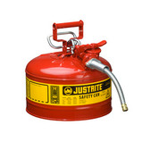 "Justrite Steel Safety Can, AccuFlow, 5/8"" Hose, 2.5 gal, Type II"