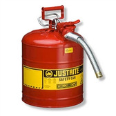 "Justrite Type II AccuFlow Safety Can, 1"" Hose, 5 gal"