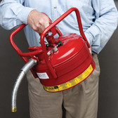 "Justrite AccuFlow Type II Safety Can Dot, 1"" Hose, 2.5 gal"