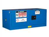 Justrite ChemCor Piggyback HazMat Safety Cabinet, 12 gal, 2 self-close doors