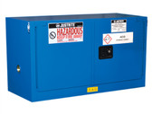 Justrite ChemCor Piggyback HazMat Safety Cabinet, Cap. 17 gal, Self-Close