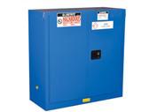 Justrite ChemCor HazMat Safety Cabinet, 30 Gal, 1 shelf, 2 self-close doors