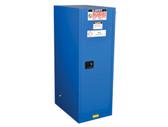 Justrite Deep Slimline HazMat Safety Cabinet, Self Closing Door, 54 Gal