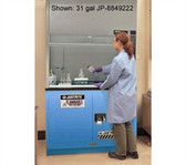 "Justrite Acid Fume Hood Cabinet, ChemCor Lined 19 gal 30"" blue self- close"