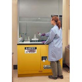 "Justrite Flammable Safety Cabinet for Under Fume Hood 48"" self-closing yellow"