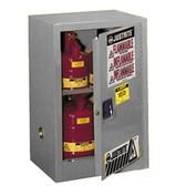 Justrite 891203 Flammable Compac Cabinet, 12 gallon gray manual