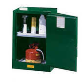 Justrite 891224 Pesticide Compac Cabinet, 12 gallon green self-closing