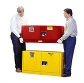 Justrite Flammable Piggyback Cabinet, 12 gal red self-closing
