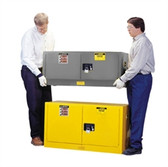 Justrite Flammable Piggyback Cabinet, 12 gal gray self-closing