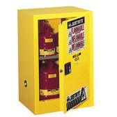 Justrite 891520 Flammable Compac Cabinet, 15 gallon self-closing
