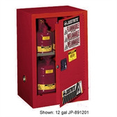 Justrite 891521 Flammable Compac Cabinet, 15 gallon red self-closing