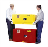 Justrite 891701 Flammable Piggyback Cabinet, 17 gallon red manual