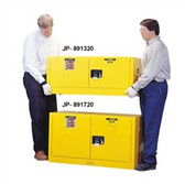 Justrite 891720 Flammable Piggyback Cabinet, 17 gallon self-closing
