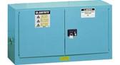 Justrite 891722 Acid Piggyback Cabinet, 17 gallon blue self-closing
