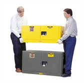 Justrite Flammable Piggyback Cabinet, 17 gal gray self-closing
