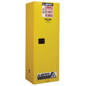 Justrite Manual Slimline Flammable Cabinet, 22 gallon, Choose Color