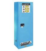 Justrite Slimline Acid Cabinet, 22 gal, ChemCor Liner blue manual