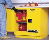 Justrite 892320 Undercounter Flammable Cabinet, 22 gallon self-closing