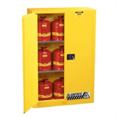Justrite Flammable Cabinet Value Pack, 45 gal, manual, 9 Safety Cans
