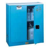 Justrite Acid Cabinet, 45 gal, ChemCor Liner blue, manual