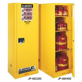Justrite Flammable Cabinet, 54 gal Deep Slimline, self-closing