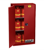 Justrite 896001 Flammable Safety Cabinet, 60 gallon red, manual