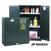 Justrite 896024 Pesticide Cabinet, 60 gallon green, self-closing