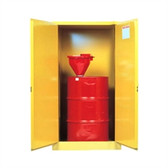 Justrite 896200 Flammable, Vertical Drum Cabinet, 55 gallon, manual
