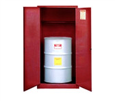 Justrite Flammable Drum Cabinet, 55 gal red, self-closing