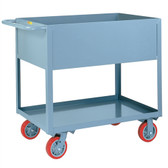 Little Giant Deep Sided Rolling Utility Cart, Industrial Strength, 18 x 30