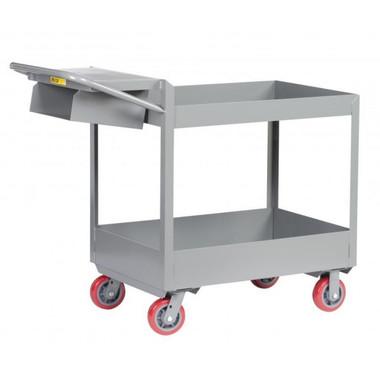 little giant rolling utility cart heavy duty 3 tray shelves 24 x 36 - Rolling Utility Cart